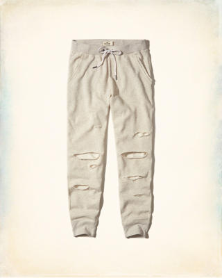 Ripped Fleece Joggers