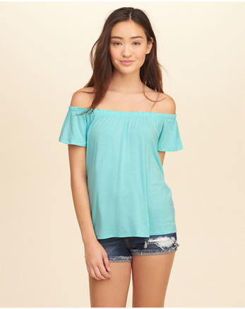 hol Easy Off-The-Shoulder Top