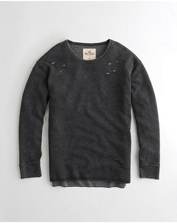 hol Ripped Crewneck Sweatshirt