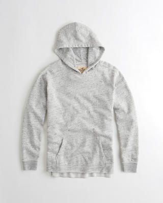 Textured Ripped Hoodie
