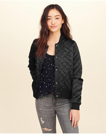 hol Quilted Nylon Bomber Jacket