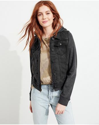 hol Sherpa-Lined Hooded Denim Jacket