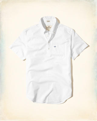 Short-Sleeve Oxford Popover Shirt