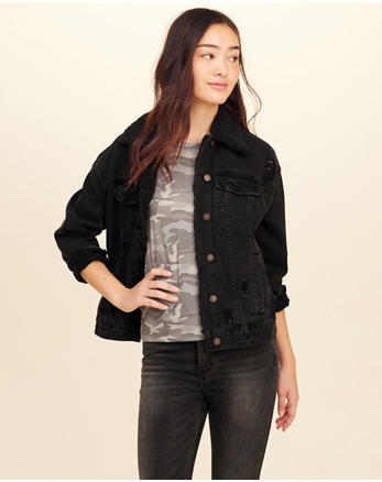 hol Sherpa-Lined Oversized Denim Jacket