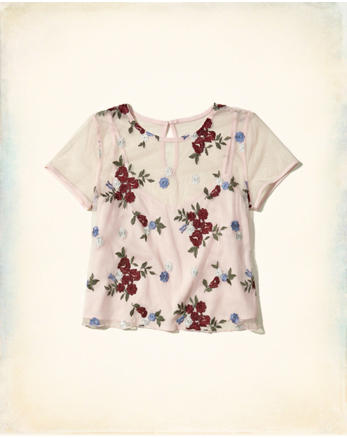 hol Embroidered Mesh Baby T-Shirt