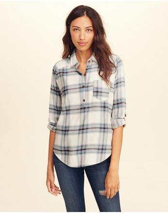 hol Plaid Popover Shirt