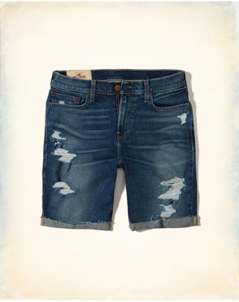 Classic Fit Denim Shorts