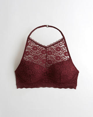 Push-Up High-Neck Bralette