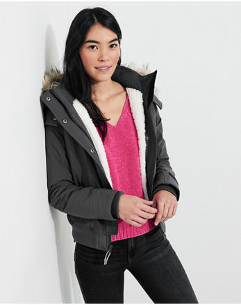 hol Hollister All-Weather Stretch Bomber Jacket