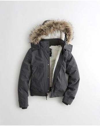 hol Hollister All-Weather Stretch Bomber Jacket