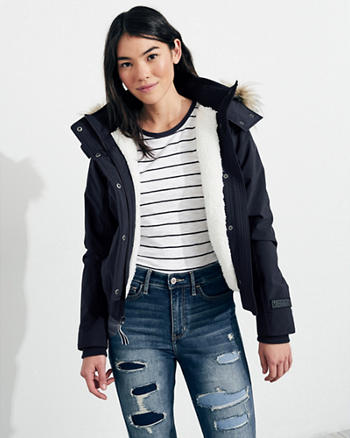 Hollister All-Weather Stretch Bomber Jacket