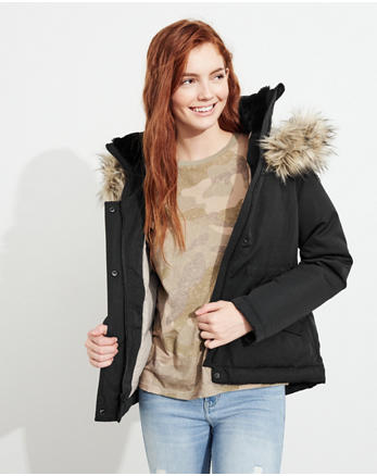 hol Hollister Ultimate Down Anorak Jacket