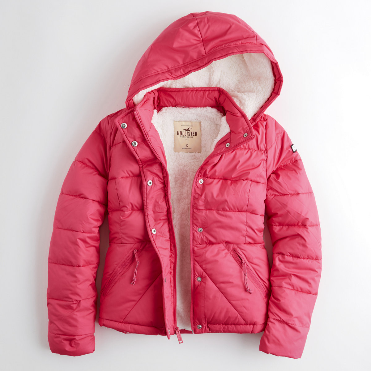 Sherpa-Lined Puffer Jacket