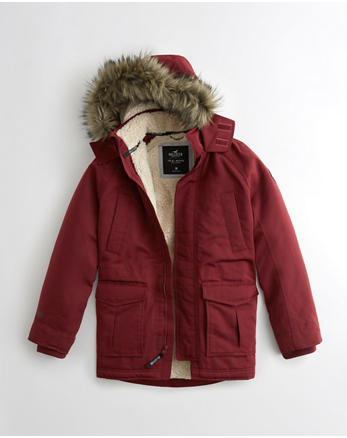 hol Hollister All-Weather Sherpa-Lined Parka