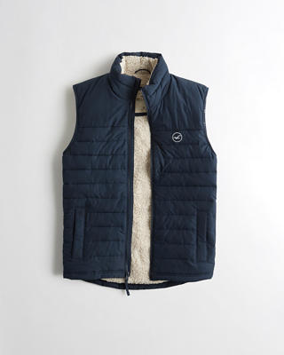 Sherpa-Lined Puffer Vest