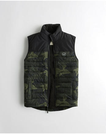 hol Sherpa-Lined Puffer Vest