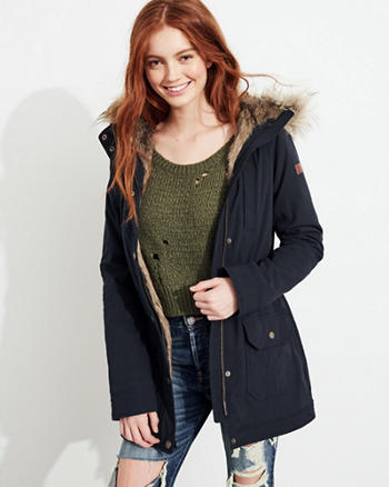 Stretch Cozy-Lined Parka