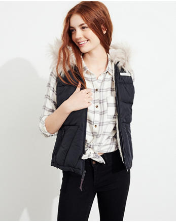 hol Sherpa-Lined Hooded Puffer Vest