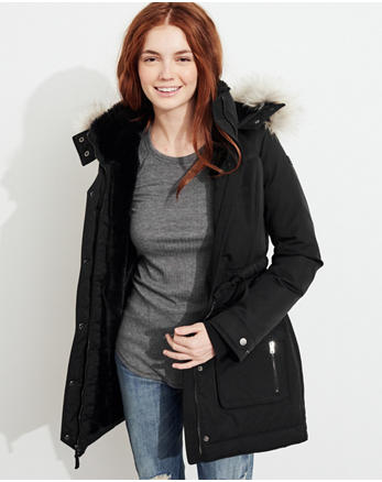 hol Hollister Ultimate Down Cozy-Lined Parka