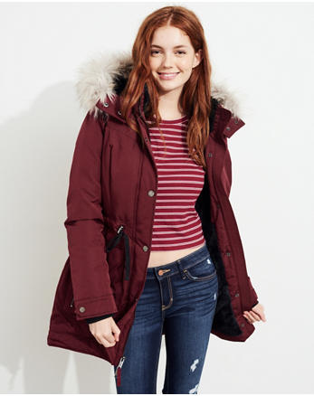 hol Hollister Ultimate Down Faux-Fur-Lined Parka