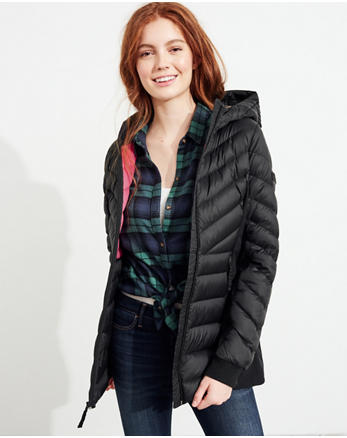 hol Hollister Ultimate Down Lightweight Parka