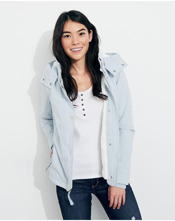 hol Hollister All-Weather Stretch Sherpa-Lined Jacket