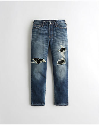 hol High-Rise Vintage Straight Ankle Jeans