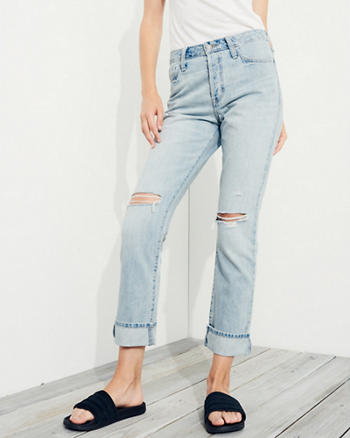 High-Rise Vintage Straight Jeans