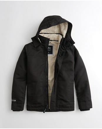 hol Hollister All-Weather Sherpa-Lined Jacket