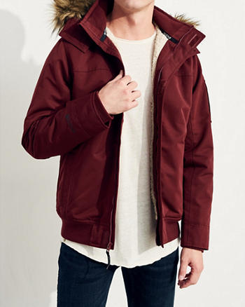 Hollister All-Weather Sherpa-Lined Bomber Jacket