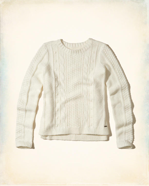 Hollister Oberbekleidung Returns Exchanges Hollister Pullover Hollister Hoodies Hollister Jeans: Girls Crew Cable Sweater