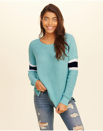 hol Stripe Crewneck Sweater