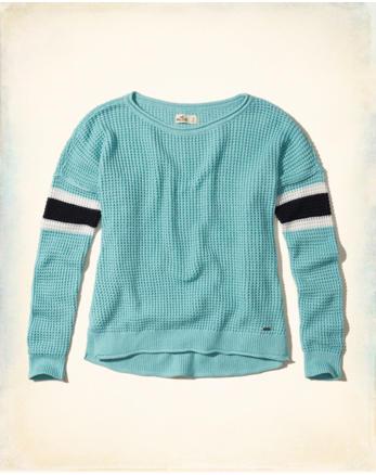 hol Stripe Crewneck Sweater