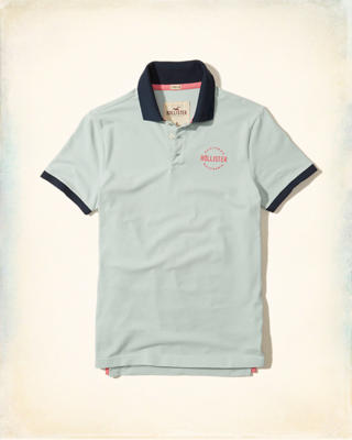 Stretch Pique Logo Polo