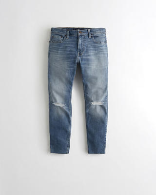 Super Skinny Cutoff Ankle Jeans