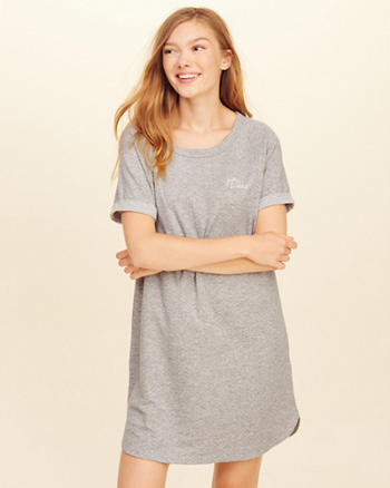 Double Layer Knit Sleep Dress