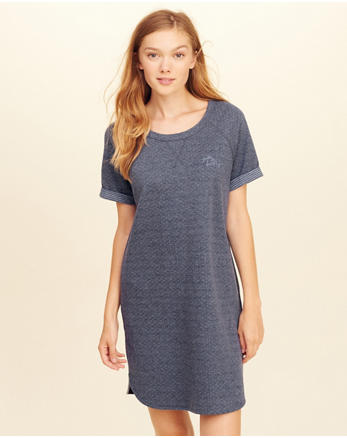 hol Double Layer Knit Sleep Dress