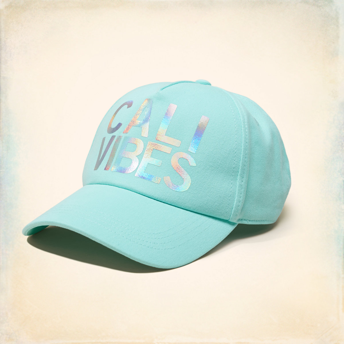 Iridescent Graphic Hat