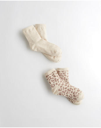 hol Leopard Shine Socks 2-Pack