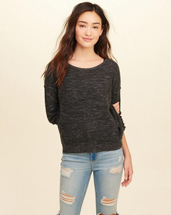 Twist Open Back Sweater
