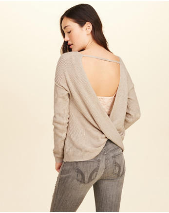 hol Twist Open Back Sweater