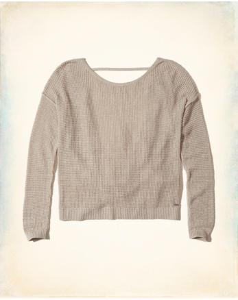 hol Twist Open Back Sweater