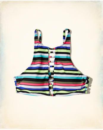 hol Strappy High-Neck Bikini Top