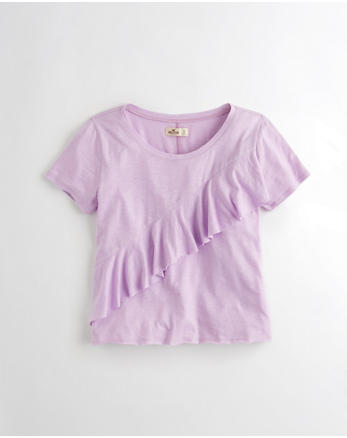 hol Boxy Ruffle T-Shirt