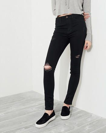 Stretch High-Rise Super Skinny Jeans