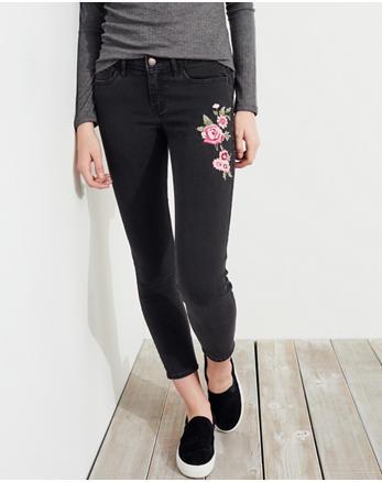 hol Low-Rise Crop Super Skinny Jeans
