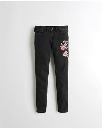 hol Stretch Low-Rise Crop Super Skinny Jeans