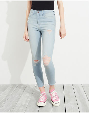 hol Stretch High-Rise Crop Super Skinny Jeans