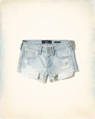 Low-Rise Denim Vintage Shorts