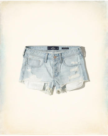 hol Low-Rise Denim Vintage Shorts